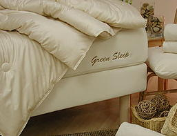 Products on Display- Organic Mattresses, Natural Bed Frames and Bedding